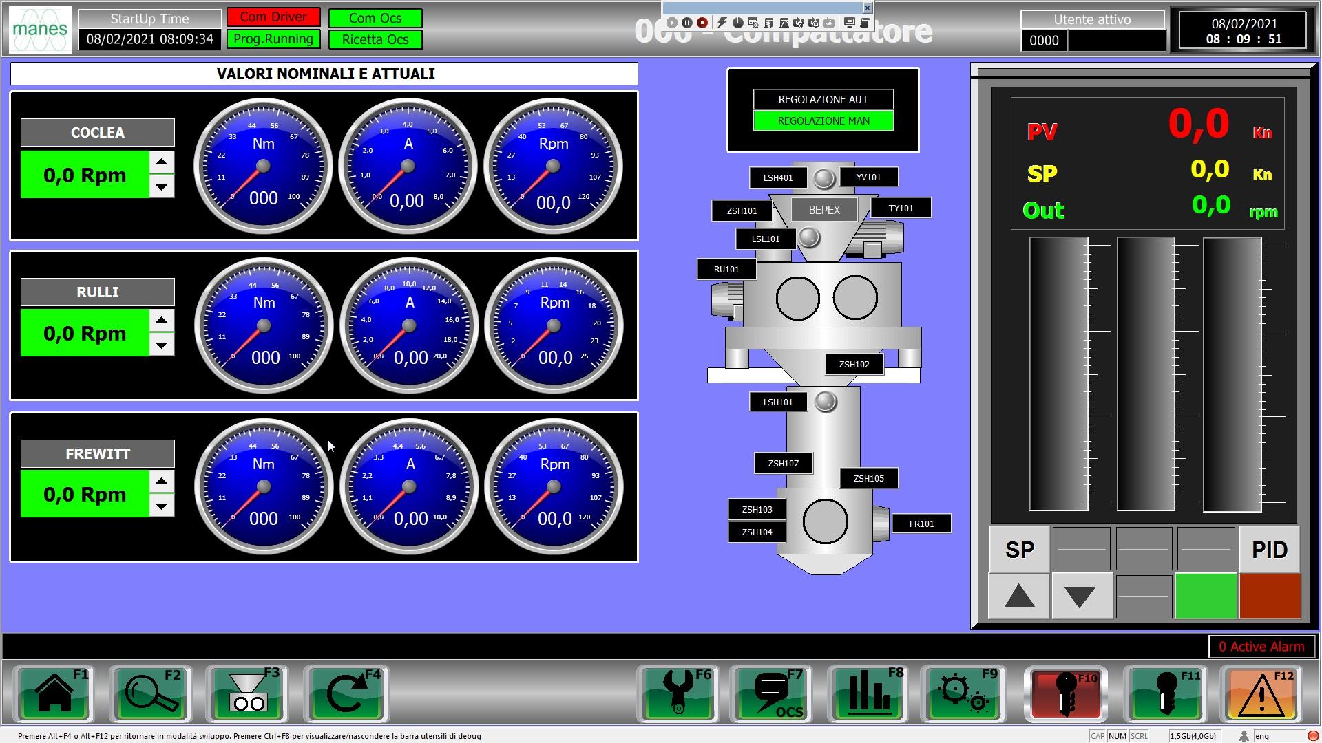 compattatore Bepex automatizzato